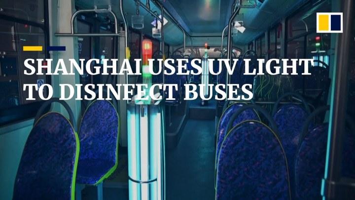 Shanghai anvender ultraviolet lys til at decinficerebybusser
