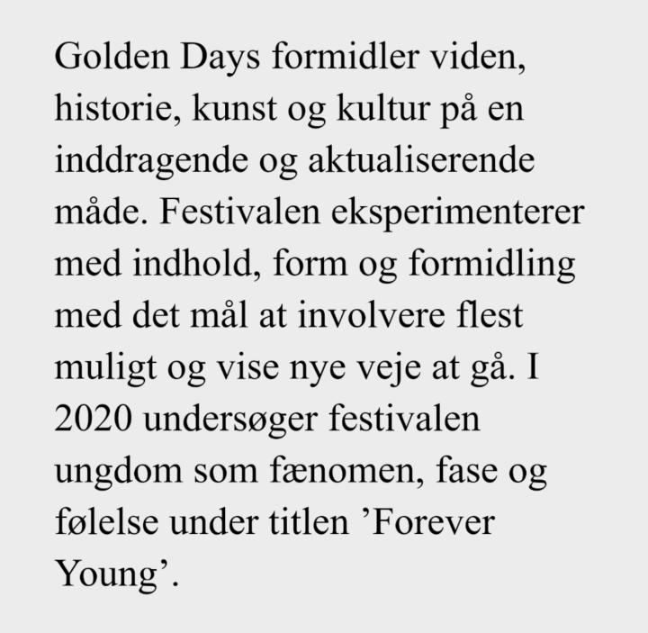 Golden Days Festival byder op tildans